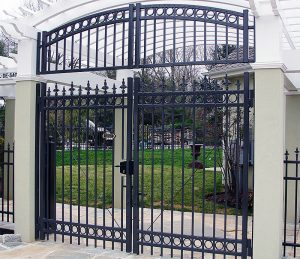 Custom Ornamental Double Drive Gate