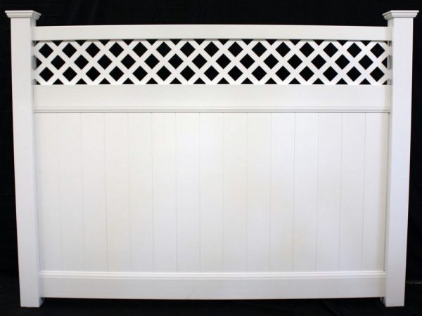 lattice top vinyl panel
