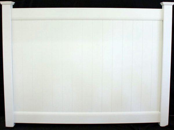solid vinyl panel